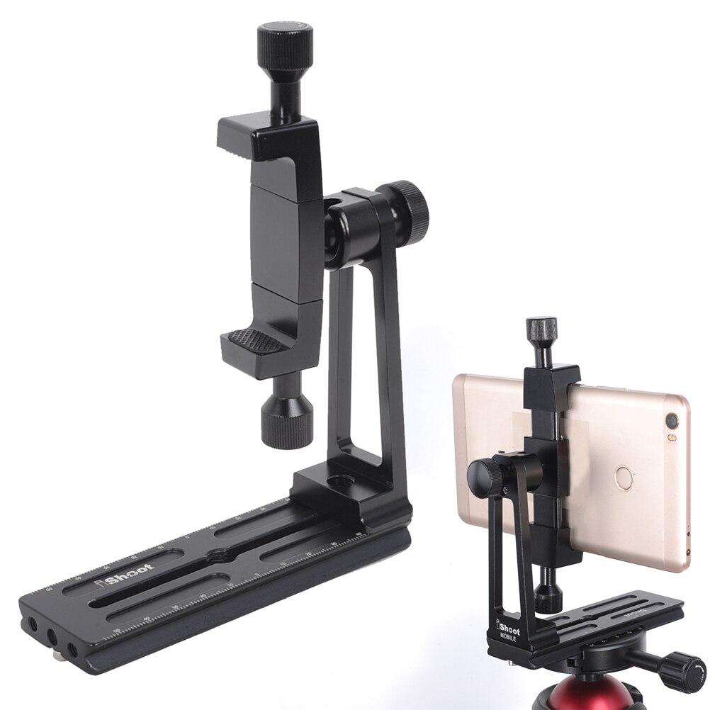 Support de trépied de téléphone universel 360 degrés rotation support clip de fixation pince adaptateur, avec plaque QR pour ARCA-SWISS
