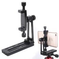 Universal Phone Tripod Mount 360 Degree Rotate Bracket Clip Holder Clamp Adapter,w/ QR Plate for ARCA SWISS Fit Tripod Ball Head