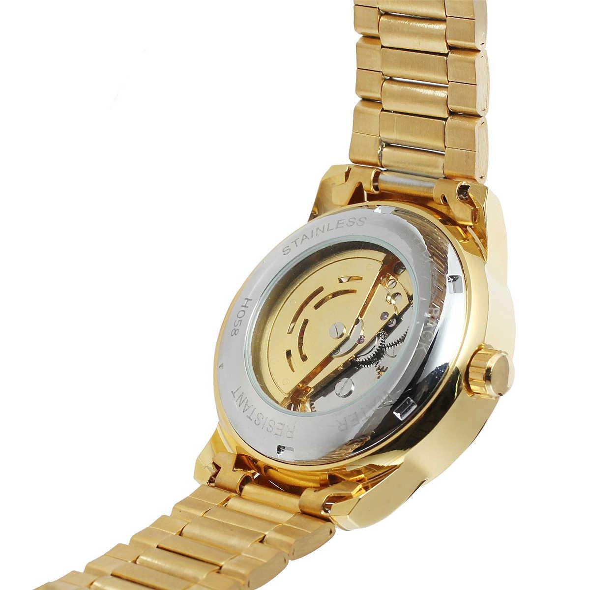 Forsining الميكانيكية التلقائي الهيكل العظمي الساعات الرجال Steampunk ساعة معصم السلطة الذاتي Widing ساعة أثرية رجالي ساعات المعصم
