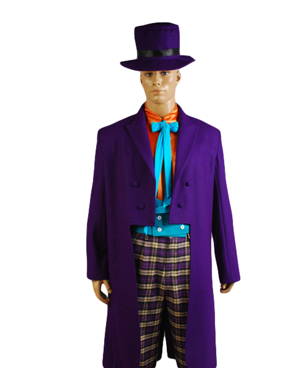 Batman Cosplay Joker Jack Nicholson Costume Purple Outfits Full Sets Adult Halloween Party Costume