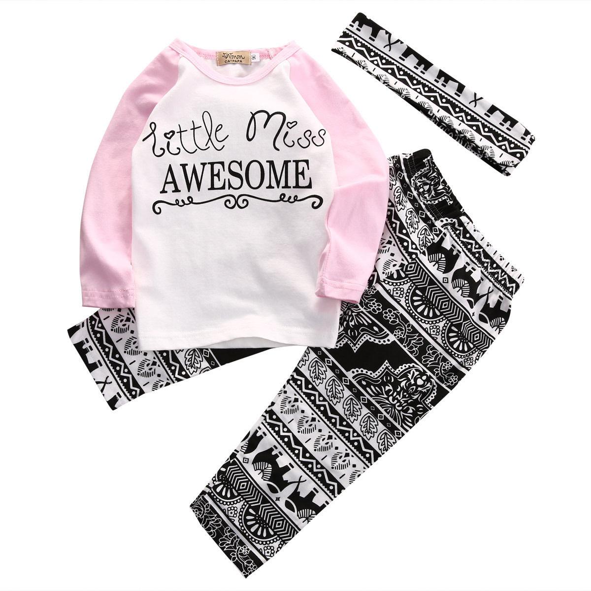 Boutique de Prendas de vestir de niño Niños Niños Bebés Niñas Top Camiseta Larga