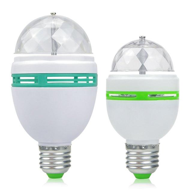 3W 6W RGB Night light 110V 220V Auto Rotating Magic stage light decoration Lamp E27 indoor holiday party DJ LED bulb EU Plug