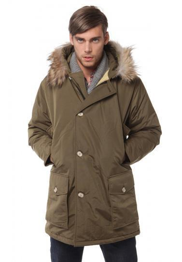 cad7ab18a412 Woolrich 8241 arctic parka man 100% down feather jacket man coat men's  anorak outerwear upright pocket top quality