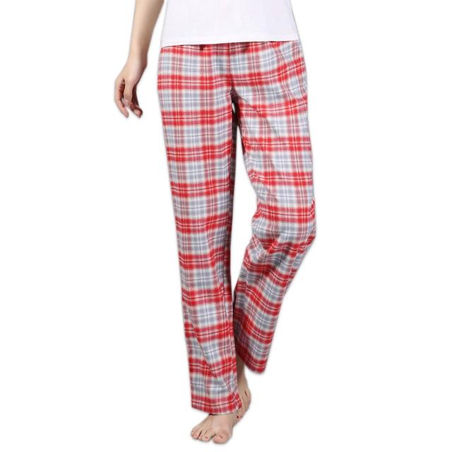 a2eaaf4430791 Утепленные 100% хлопок женские сна свободные плюс размер ночь брюки пижамы  пижамные женские пижамы Штаны