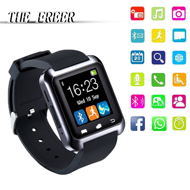 Smart klocka Bluetooth Digital Armbandsur U80 för iPhone IOS Android - Herrklockor