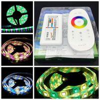 5M RGBW(RGB+White) or RGBWW(RGB+Warm White) IP65 Waterproof DC12V Flexible LED Strip Light +2.4G Touch Screen Remote Controller