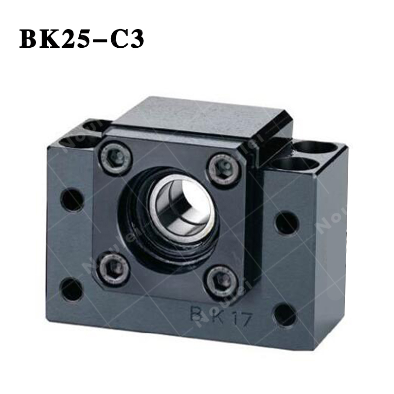 BK25 C3 Black End Linear Support for CNC Diameter 32mm Ballscrew SFU3205 3210 noulei ballscrew support bk17 bf17 c3 linear guide screw ball screws end supports cnc