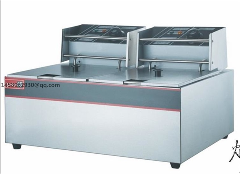 ce approved double tank 12l 5kw commercial electric deep double basket deep fryer