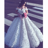 Fmogl New Arrival Stunning Appliques Ball Gown Wedding Dress 2018 Sweetheart Neck Lace Up Bride Gown Vestido de Noiva Plus Size