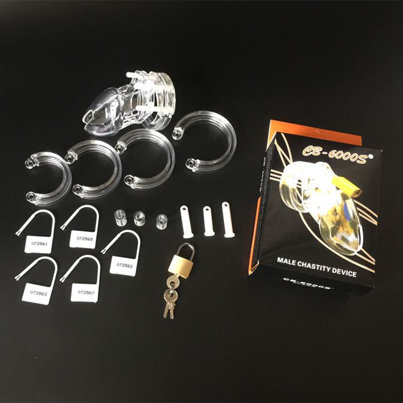 Buy Male Chastity Device 5 Size Penis Ring,Cock Cages,Virginity Lock,Chastity Lock/Belt,Cock Ring,Adult Game,Sex Toy,CB6000S