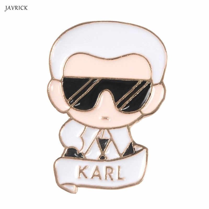 Figure Brooch Karl Famous Fashion Man Backpack Icons Badge Creative Casual Jacket Jean Decoration Ornament Gifts Pins Jewelry
