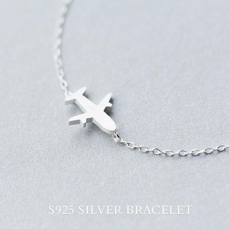 Stvaran. 925 Sterling Silver Nakit Matte zrakoplov zrakoplov Plane - Fine nakit - Foto 5