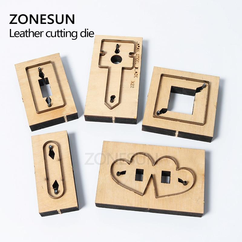 ZONESUN bricolage écouteur cordon gardien en cuir cordon organisateur porte-écouteurs découpe pour Machine de découpe artisanat Cutter - 3