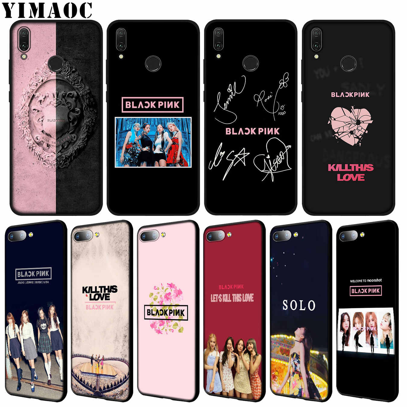 YIMAOC blackpink Kpop Soft Silicone Case for Huawei Y9 Y7 Y6 Prime 2019 Honor 20 8C 8X 8 9 9X 10 Lite 7C 7X 7A Pro Black Cover