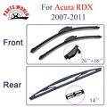 Wiper blades para Acura RDX (2007-2011), 26 ''+ 16'', Limpador de Carro,, desossada Brisas Limpador de Borracha de Silicone, Acessórios Do Carro