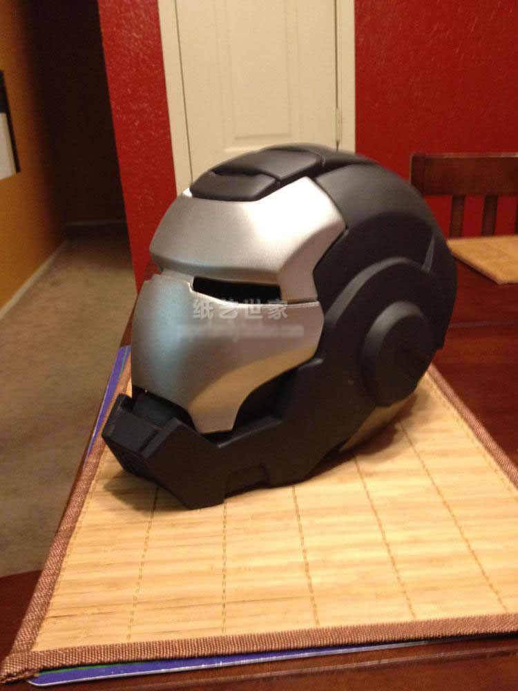 Cabeça da máquina da guerra do homem do ferro do filme modelo de papel 1: 1 capacete de papel feito à mão wearable 3d