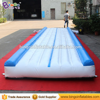 Free express 9X2m Inflatable Gymnastics mats high quality fitness sport mats jumping gym mat with blower for sport carnival