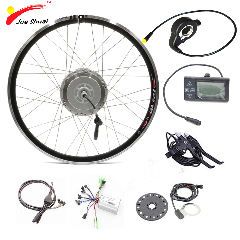 Front wheel hub motors electric bicycle conversion kit 36v for Motor assisted bicycle kit