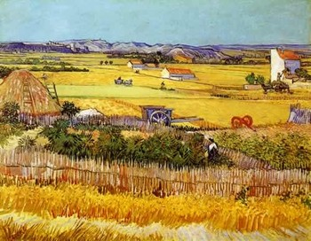 14/16/18/27/28 Van Gogh wheat field painting Handmade Needlework Embroidery DIY DMC Cross Stitch Kits Crafts Home decor image