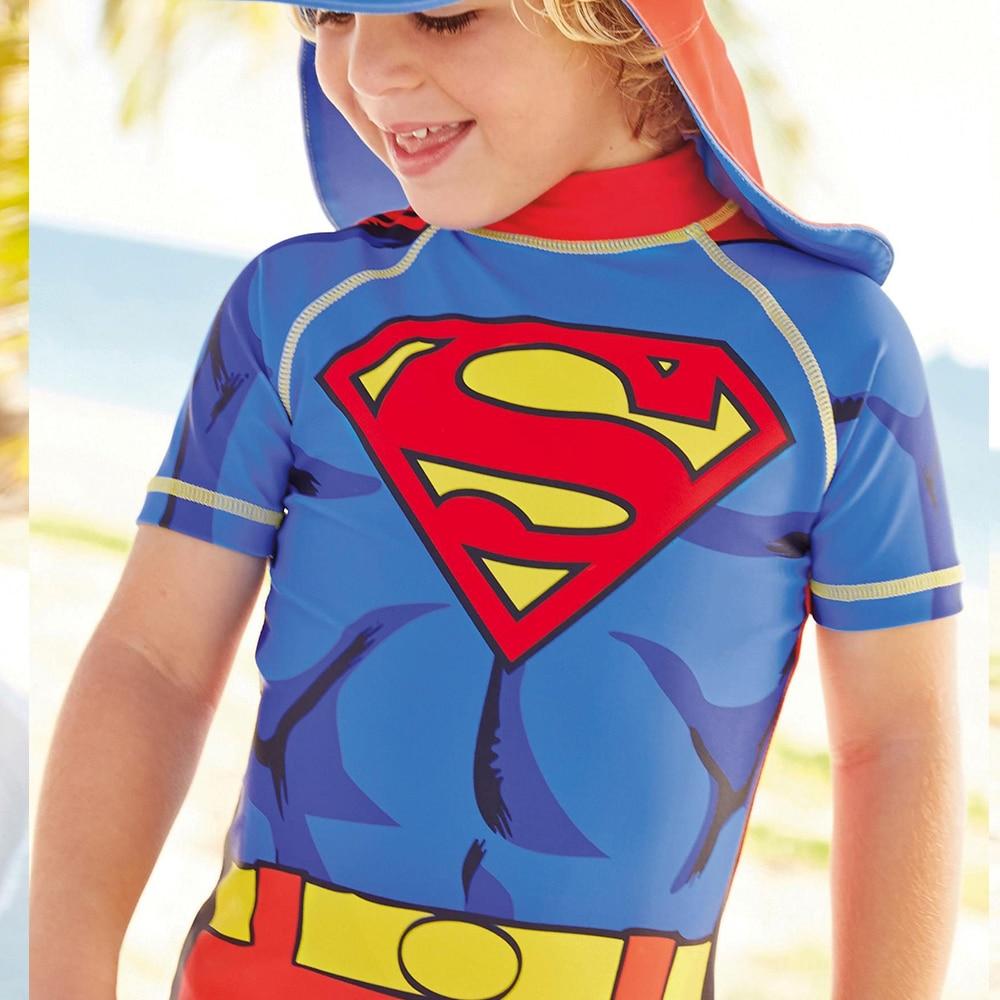 Image 4 - Kids Swimwear One Piece Boys Swimsuit Minions Batman Swimming Children Captain America Sport UPF50+ Beachwear Baby Bathing Suitswim boyswimwear swimmingswimming swimsuit -