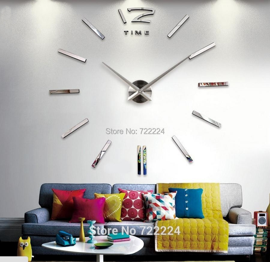 home decoration big digital wall clock modern design large decorative clocks watch hours unique gift - YaYa department store