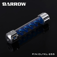 BARROW 255mm X 50mm Double Helix T Virus Cylindrical Water Cooled Coolant Tank Aluminium Alloy PMMA