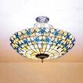 Континентальный Средиземноморский сиреневый подвесной светильник. Витражный абажур 40/52/60 см Подвесная лампа для внутреннего освещения