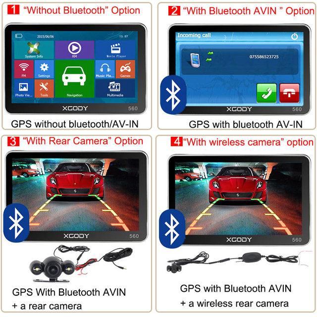 XGODY 560 5 inch Nawigacja GPS samochód Truck Navigator 128M + 8GB FM SAT NAV Navitel Rosja Mapa 2018 Europa Ameryka Azja Afryka mapy