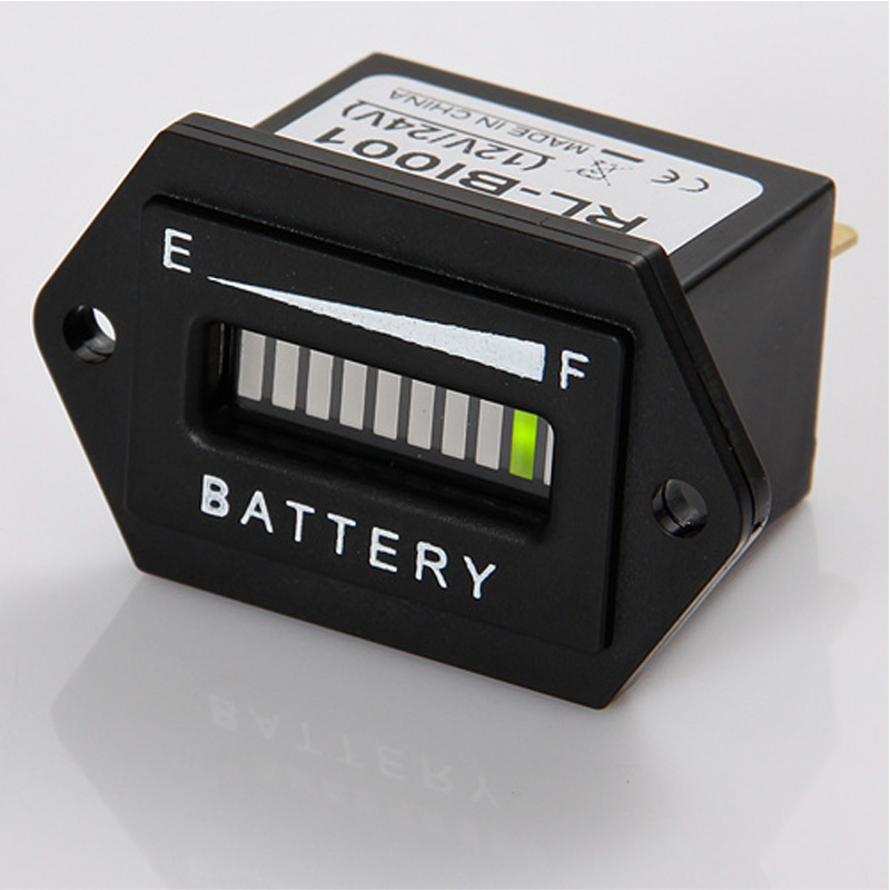 LED Battery Discharge Indicator for Electric Scooter Golf Kart ,12/24V RL-BI001 Free Shipping!