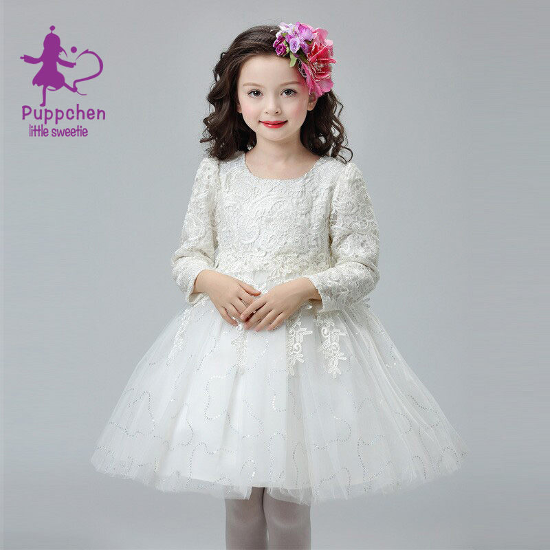 Buy Cheap Puppchen vestidos wedding dress baby girls clothes carnival costumes children clothing princess sequins dresses for girls kids