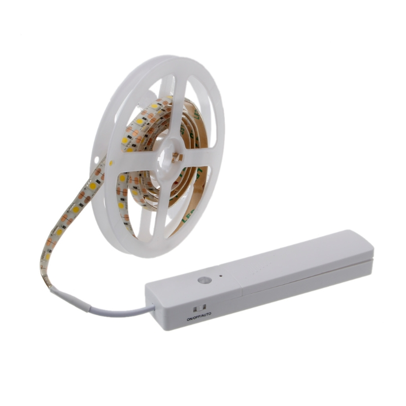 60 tira Flexible impermeable del LED luz batería operado Sensor de ...