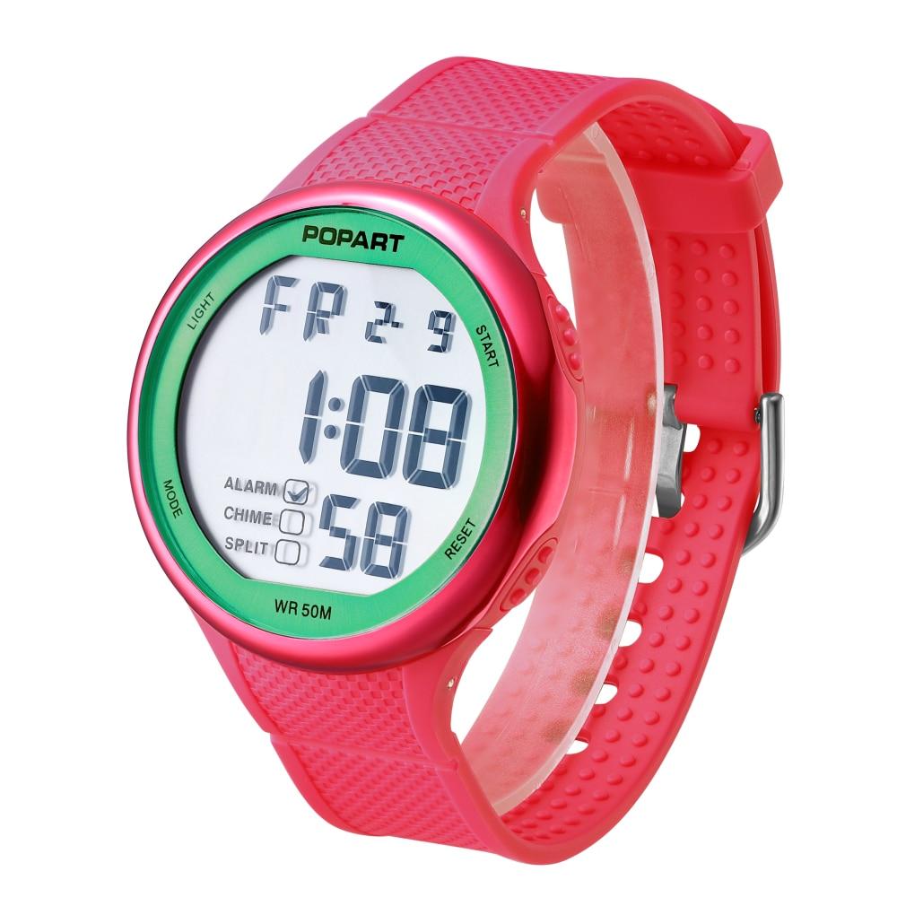 POPART Digital Relojes de Pulsera Mujer Relojes Impermeable Caja de - Relojes para mujeres
