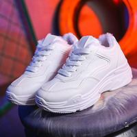 Sneakersing 2019 Women New Thick soled Sports White Shoes Women Sneakers Platform Off White Shoes Brand Sports Platform NO.249