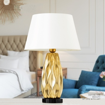 Nordic ceramic table lamp bedroom bedside lamp living room ...