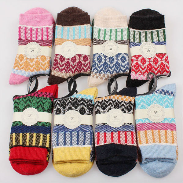 17 New Winter Thermal Cashmere Socks Women Warm Rabbit Wool Socks Women's Thicken Socks Girl Casual Socks 5 pairs/lot 3