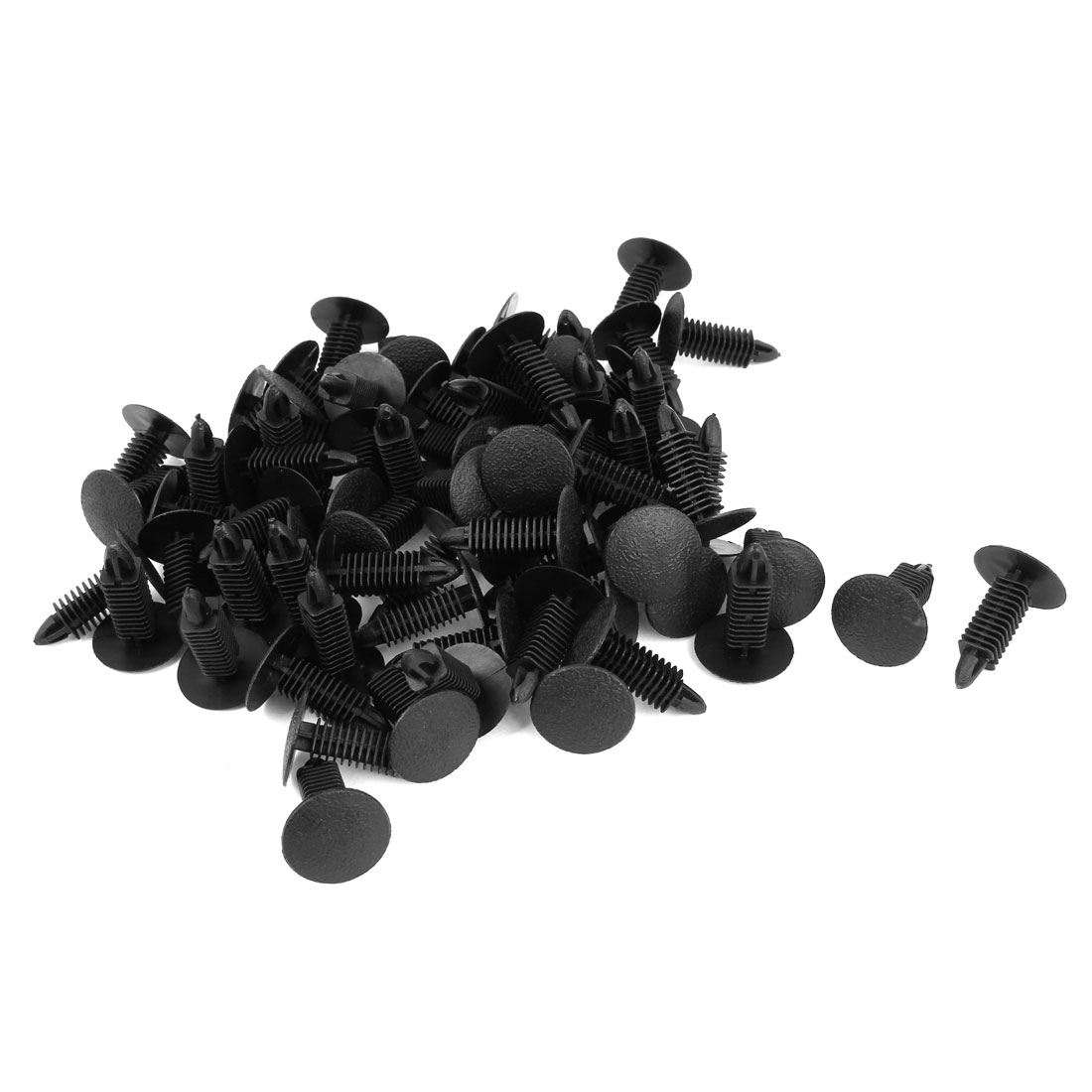 X Autohaux 25mm 18mm Black Plastic Rivets Fastener Car Bumper Push Uxcell Waved Handle Pcb Circuit Board Anti Static Brush Clips 70 Pcs