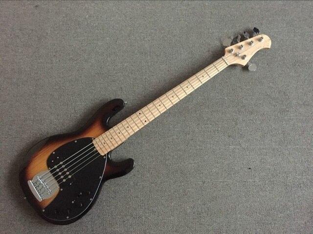 2019 new guitar factory 5 strings music man stingray sunburst electric bass musicman 9v. Black Bedroom Furniture Sets. Home Design Ideas