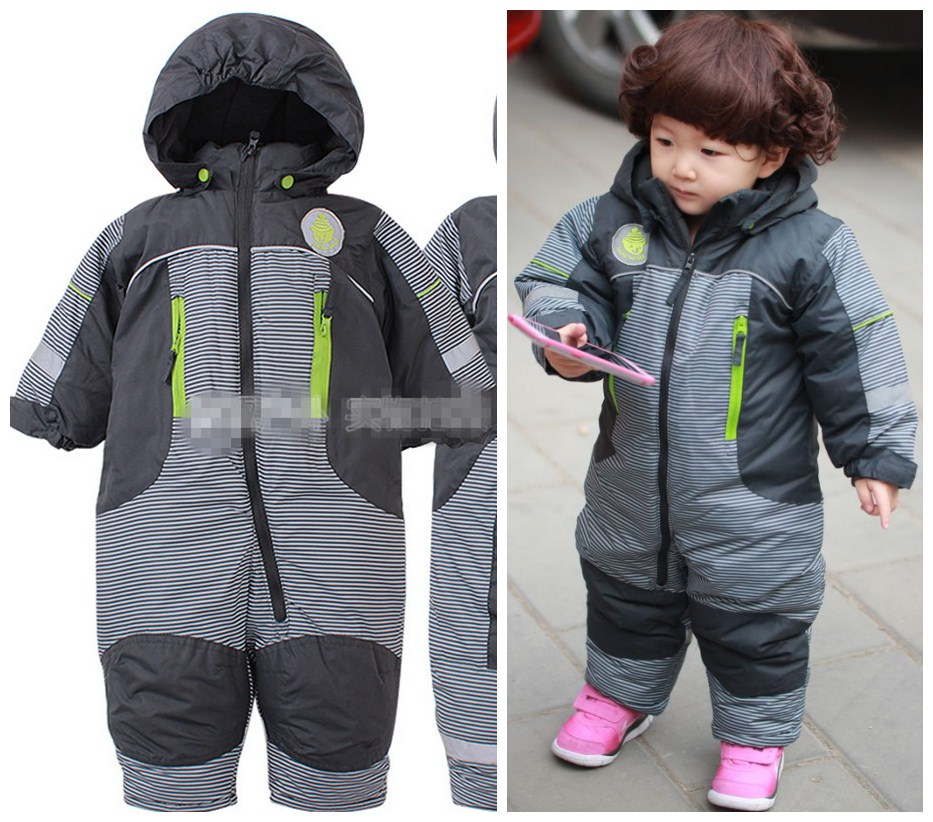 Waterproof windproof warmth conjoined climb clothes quilted ha clothes out Children jumpsuits boys and girls a