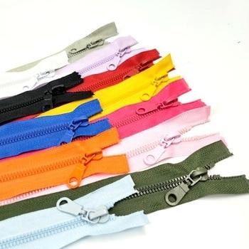 1 قطعة 5 #50 سنتيمتر طول عالية الجودة الراتنج السوستة مفتوح نهاية ملابس رياضية الملابس أكياس الخياطة اكسسوارات 12 الألوان اختيار a069