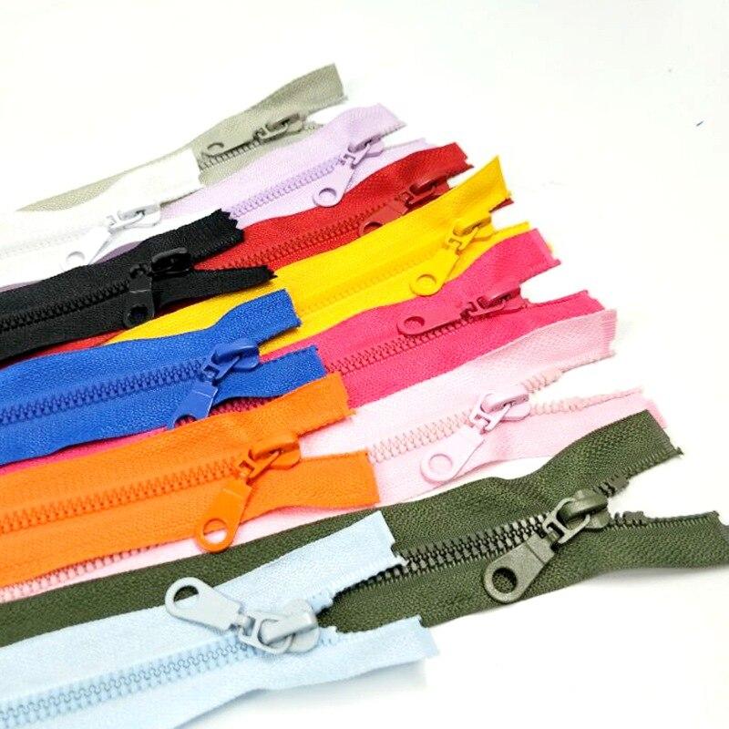 1 шт 5 #50 см длина высокое качество смолы молнии открытый конец спортивная одежда сумки, швейные принадлежности 12 цветов выбрать A069