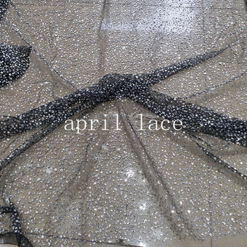 5yards RR020 black mesh silver glitter dobby  glued glitter  tulle mesh  for evening dress/sawing/wedding,any color avaible