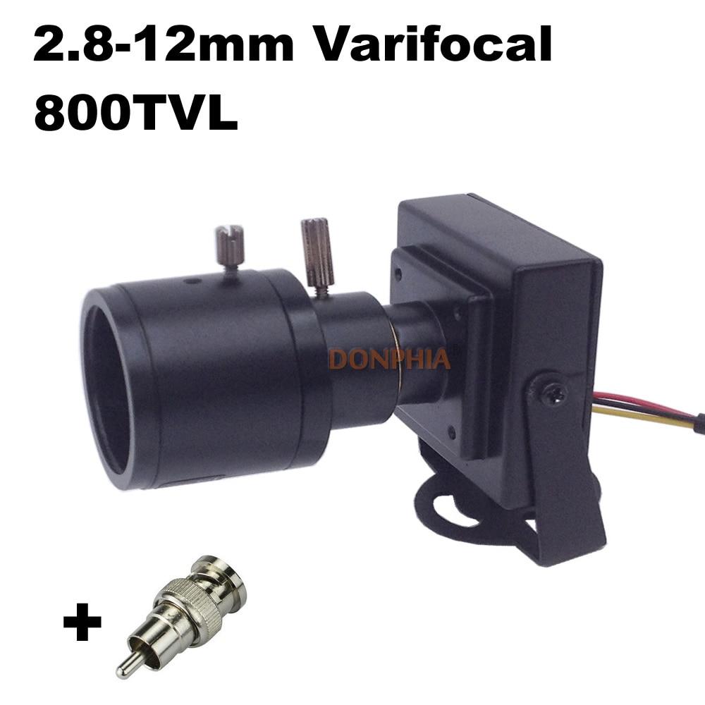 800tvl Varifocal Objectif Mini Caméra 2.8-12mm Objectif Réglable + - Sécurité et protection - Photo 2