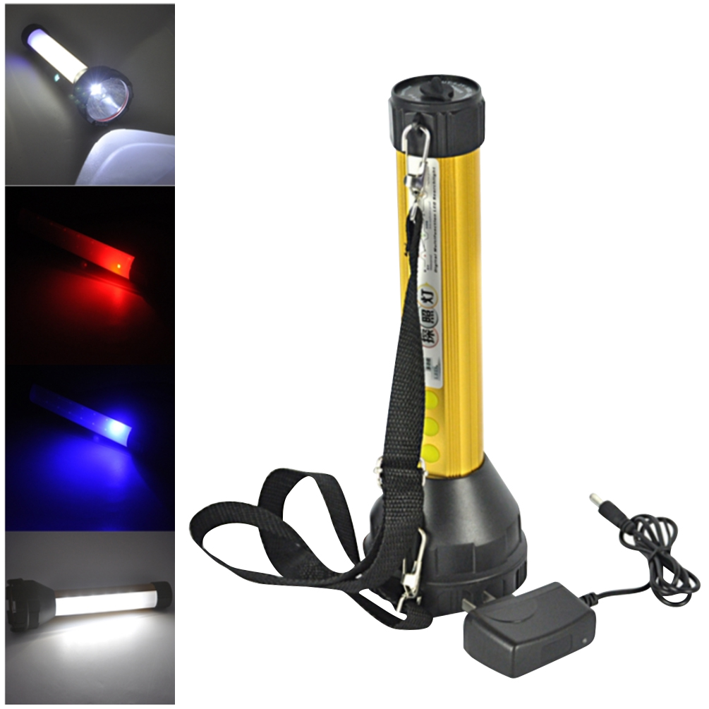 LEDGLE 10W Searchlight Multi-purpose Flashlight Rechargeable LED Torch Compact Emergency Lights with 3 Lighting Modes, IPX6