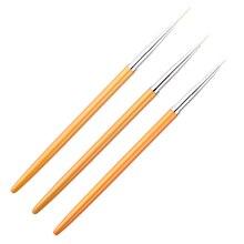 Professional UV Gel Nail Brush 3 pcs Set