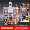 LEPIN 15004 2313 Unids Ciudad Calle Creador Bomberos Kits de Edificio Modelo Bloques Ladrillos Compatibles 10197 niños de juguete
