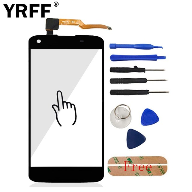 A+++ 5.0'' Touch Screen Digitizer Panel For Philips I908 Front Glass Touchscreen Lens Sensor Flex Cable Cell Phone Repair Parts
