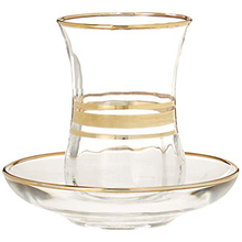 101 mL-200 mL Turkish Black Tea Cup Imported Lead-free Glass with Saucer Coffee Handpainted Phnom Penh Special Desig