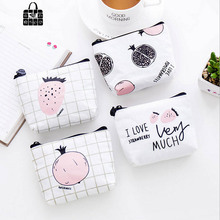 1 pcs Rose Diary fruit sweet language canvas coin purses zipper zero wallet child girl boy women purse,lady coin bag key packet rose diary fashion cartoon bus ring zipper coin purse boy girl wallet personalized packs portable key bag card bag children gift
