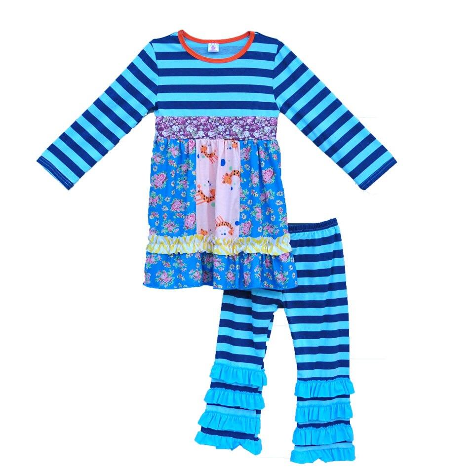 ילדי מחיר מפעל הדפסת צבי תלבושות חורף ילדים חותלות לפרוע תינוק עליון יילוד תינוקות בנות בוטיק בגדים סטי F053