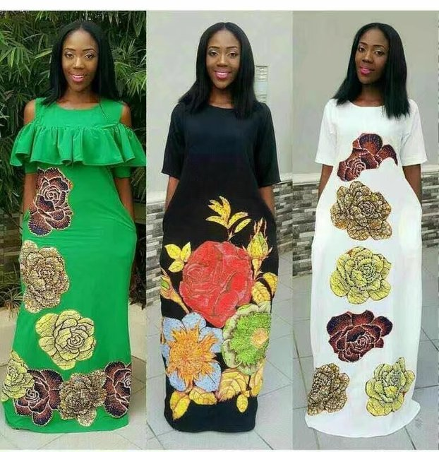 Nigerian Lace Fabrics Promotion Ankara Fabrics Hojilou For Clothes ...